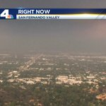 Its raining ash from the #SandFire in the San Fernando Valley. Smoke Advisories in effect though Sun. #NBC4You https://t.co/QY8Pys0JTf