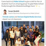 ☺️💗🙌🏾 @MakeSchool #LA https://t.co/wbqOdIjwIW