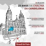 Há 23 anos atrás 8 jovens (6 menores e 2 maiores de idade) foram assassinados pela PM do RJ: a Chacina da Candelária https://t.co/KW1akTPk0N