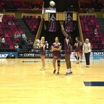 @FirebirdsQld warming up for todays big match against @SteelNetball for a spot in the Grand Final #gofirebirds https://t.co/D5l78Pqdcp