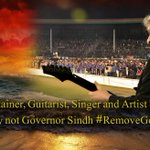 "An Entertainer playing ""Teri Meri Meri Teri Prem Kahani..."" #RemoveGovernorSindh https://t.co/apO9vVncJV"