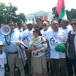 MQM Convener @nadeem_nusrat bhai addressing outside Washington DC in protest against excesses WD Mohajirs https://t.co/TZif5cKX5P