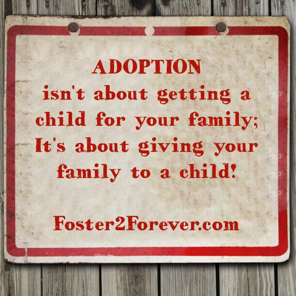 #Adoption isn't about getting a child... #quote https://t.co/Kocg8Xo9o3