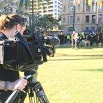 Big turnout in #Brisbane for #MarchfortheMurderedMillions event - walk through CBD to start soon @ABCNewsBrisbane https://t.co/7LKDo08Qph