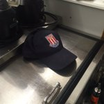 Received @stokecity hat from a guest today after talking football. He said I was brave for supporting #avfc https://t.co/QeHtmaF2uw