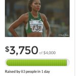 FLASH: #Nigeriaolympicscandal Nigerian athlete Regina George close to meeting her $4000 goal on #gofundme https://t.co/aWd7CLdM2r