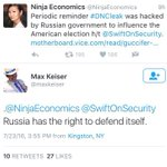 Russian state TV host says Russia is defending itself in hacking DNC to get Trump elected. 🤔 https://t.co/6MqDWO9aJG