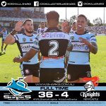 Thats 15! Weve continued on in winning ways & are back at the top! #UpUpCronulla  #WeAreSharks #NRLSharksKnights https://t.co/y4BIb9KYzF