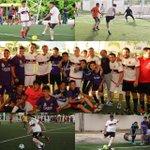 Una buena tarde jugando un partidito de fútbol con buenos amigos y el Gobernador @alitomorenoc. https://t.co/VIcGW86mh1