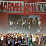 They just announced Brie Larson as #CaptainMarvel! Big Marvel family photo! #SDCC https://t.co/v0TMAevpy9