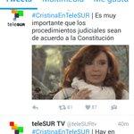 Gracias Macri y equipo por haber dejado de financiar a los alcahuetes chavistas de Telesur. #CristinaEnTelesur. https://t.co/QhDiG64MN4