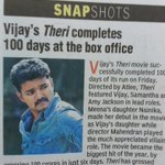 """""""The movie had grossed 180cr till today beating Vikrams I and Rajinikanths Endhiran"""" (Tamil Versions)  #Theri 👌🏼 https://t.co/grrVJK6ugG"""