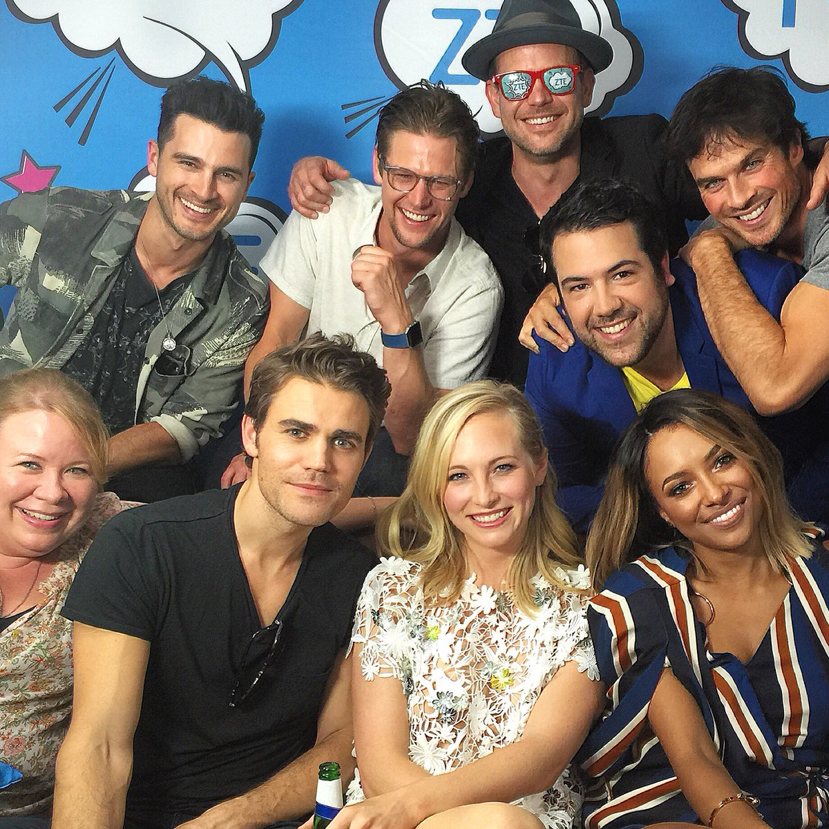 After covering #TVD for 7 years, it was a damn delight snagging the cast for their last-ever #SDCC interview.