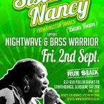 Glasgow Massive! Sister Nancy Fri Sept 2 Rum Shack #reggae #glasgow #sisternancy https://t.co/qGYfXH0QyS