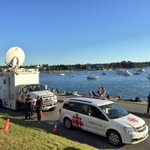 CBC satellite truck set up for fireworks. Drop on by! Beach & Cardero. Wed love to interview you for our newscast. https://t.co/yUKpUr9hfJ