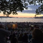 Lots of people enjoying the sunset as excitement for the #CelebrationofLight ramps up. https://t.co/9OqyNTlQ0h