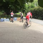 Our first set of cyclists heading back off after a little pit stop for water and a banana! @smhbasingstoke #bigwheel https://t.co/mkv4mlQ4wf