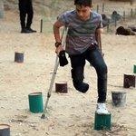 الله أكبر كم فيك يا #غزة من عجب شبل جريح مبتور القدم يتدرب في  مخيمات #طلائع_التحرير التي تنظمها #القسام #نبض_الجريح https://t.co/YwfjJFNMQ2