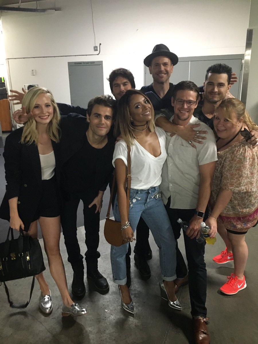 One more backstage with TVD https://t.co/GEj9Pk2fon