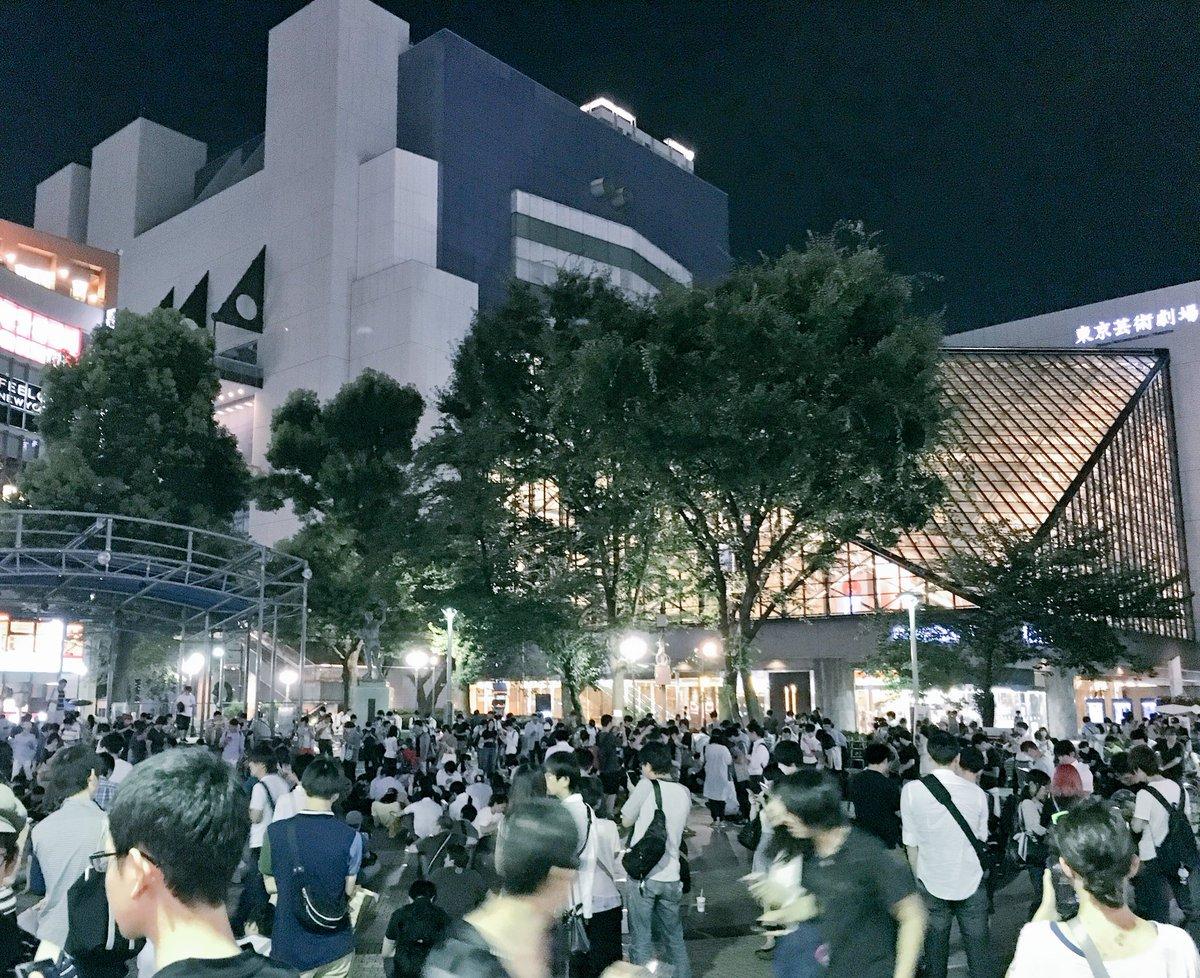 イベントは何も行われていない池袋西口公園。 https://t.co/IvU7lqi43K