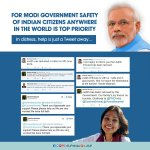 For Modi government, safety of every Indian citizen anywhere in the world is top priority. https://t.co/TEbmvzbmOJ