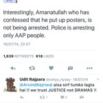 But-2014 @ArvindKejriwal ji asked for Amanatullahs arrest- Look at the tweets- Now in AAP-is he holier than Thou? https://t.co/un7AiqK8MY