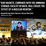 #Hezbollah: A terror group that aims to create the effect of a nuclear weapon. This is why we take them seriously. https://t.co/MbhCPwZm6x