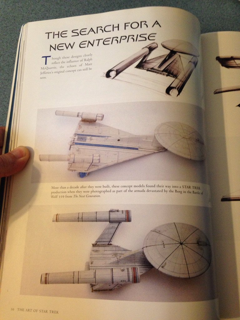 """These models, according to """"The Art of Star Trek, were part of the Battle of Wolf 359 (TNG: Best of Both Worlds). https://t.co/dRCZohKq1u"""