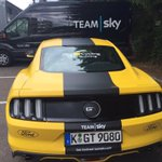 Just when you thought the @TeamSky @FordEu #Mustang couldnt get any cooler 💛💛💛 #TDF2016 https://t.co/CAhyW8Vcox