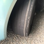 """Vehicle stopped by @Glospoldogblog in #Gloucester for no insurance. Driver said she knew the tyres were """"a bit bad"""" https://t.co/XNEcBHEVN7"""