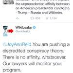 Wikileaks and Assange now threatening @JoyAnnReid: https://t.co/6p6qd5H4J2