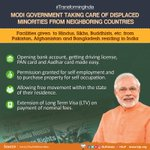 Modi government is taking care of displaced minorities from Afghanistan, Bangladesh and Pakistan. https://t.co/QJZYLVYdmS