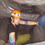 Caving Instructor Joe is currently cleaning the Ball bit, theres a lot more space with out the Balls. #gloucester https://t.co/ORPovlJSYh