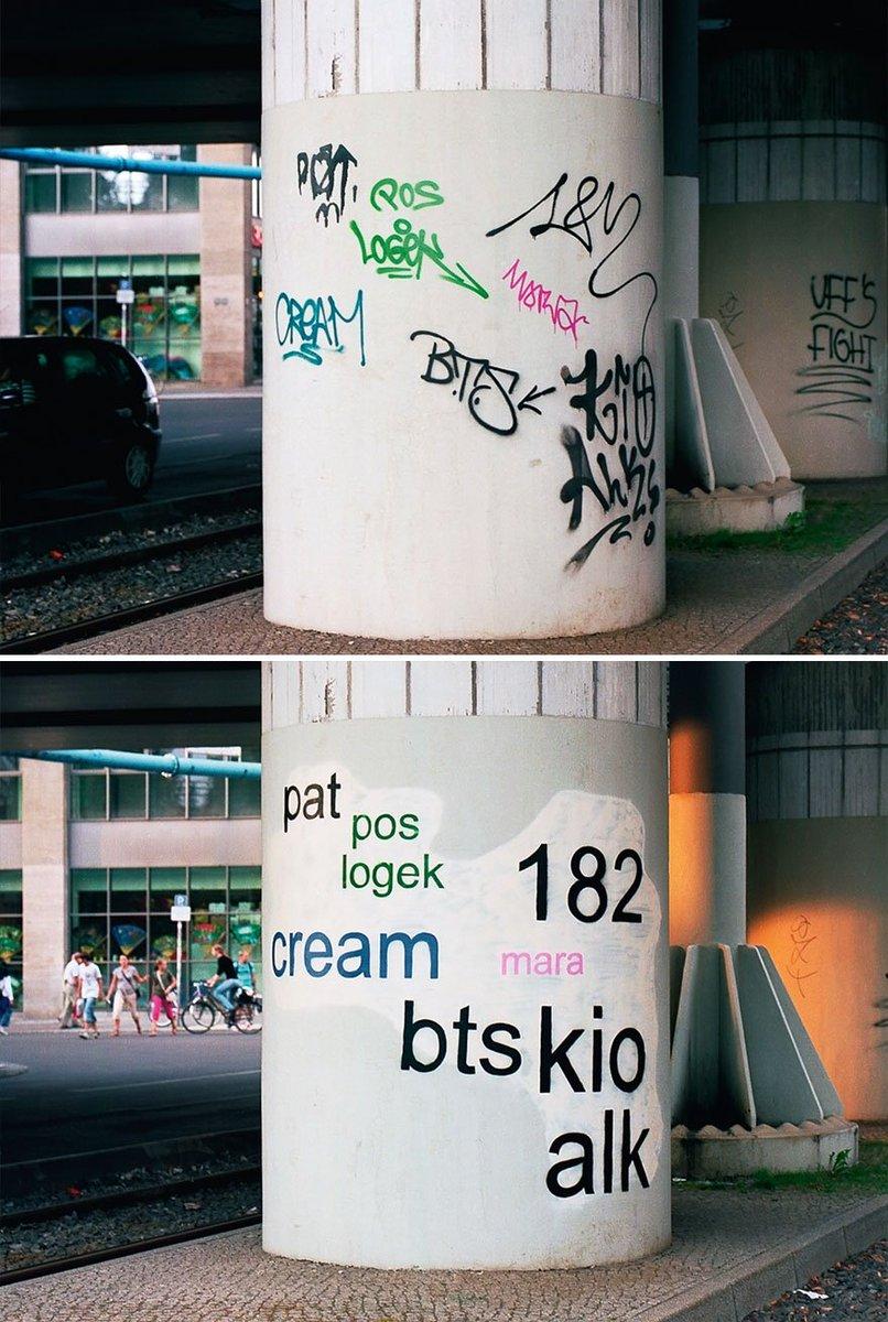 ストリートの落書きを読みやすくするというアート。アートって奥深すぎる。 boredpanda.com…