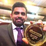 #BehindwoodsGoldMedal award for the Best Trailer of the year for #Maari 😊 Along wit Editor @GK_Prasanna #BGM2015 https://t.co/s1xtG2l8uK