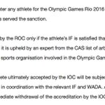 NEW: IOC Executive Board bars Russia from entering any athlete ever sanctioned for doping: https://t.co/niMZq7Pzuu https://t.co/lk7L2aL4Jn