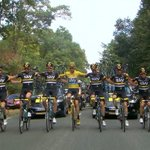 Here come the men in black... and yellow! #TDF2016 https://t.co/QYoE7I0CMv