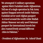 Afghan president, @ashrafghani , has a point here. Will somebody from Pakistan respond to it? https://t.co/I9B20APeCM