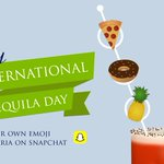 Are you celebrating #NationalTequilaDay? Show us how on #Snapchat by making a Bloody Maria using emoji garnishes. https://t.co/0cux9Eo8au