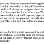BREAKING: @DWStweets steps down as DNC chair, releases statement saying she will still open and close convention https://t.co/OBKfTm3B2B