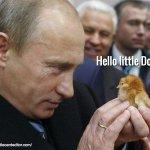 Vladimir Putin greets his old friend Little Donald Trump. https://t.co/KAa4xloxI9
