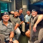 The boys are ready to hit the road to the Induction Ceremony. #JrHOF https://t.co/EppcqJhhpC