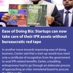 Startups can now take care of their IPR assets without bureaucratic red tape  https://t.co/L3xc4drJkC  via NMApp https://t.co/U9UD7MIxfo