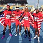 Wil London incredible kick! Team USA (Alison, Cogdell, Montgomery, London) wins the #Bydgoszcz2016 4x400m in 3:02.39 https://t.co/mAJyKjndVu