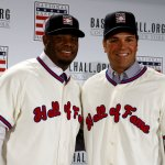 Just an hour away from these two becoming baseball immortals... #HOFWKND https://t.co/iX0xXoopfM