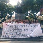 Hoy día del natalicio de Simon Bolivar las @JVPMiranda dejamos un mensaje claro #BolivarEsLibertad https://t.co/D57zShlP7w