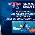 Were just 2 days away from the @LATechSports community movie night! Dont miss this fun, family event in #RustonLA! https://t.co/7jOG6KMLKH
