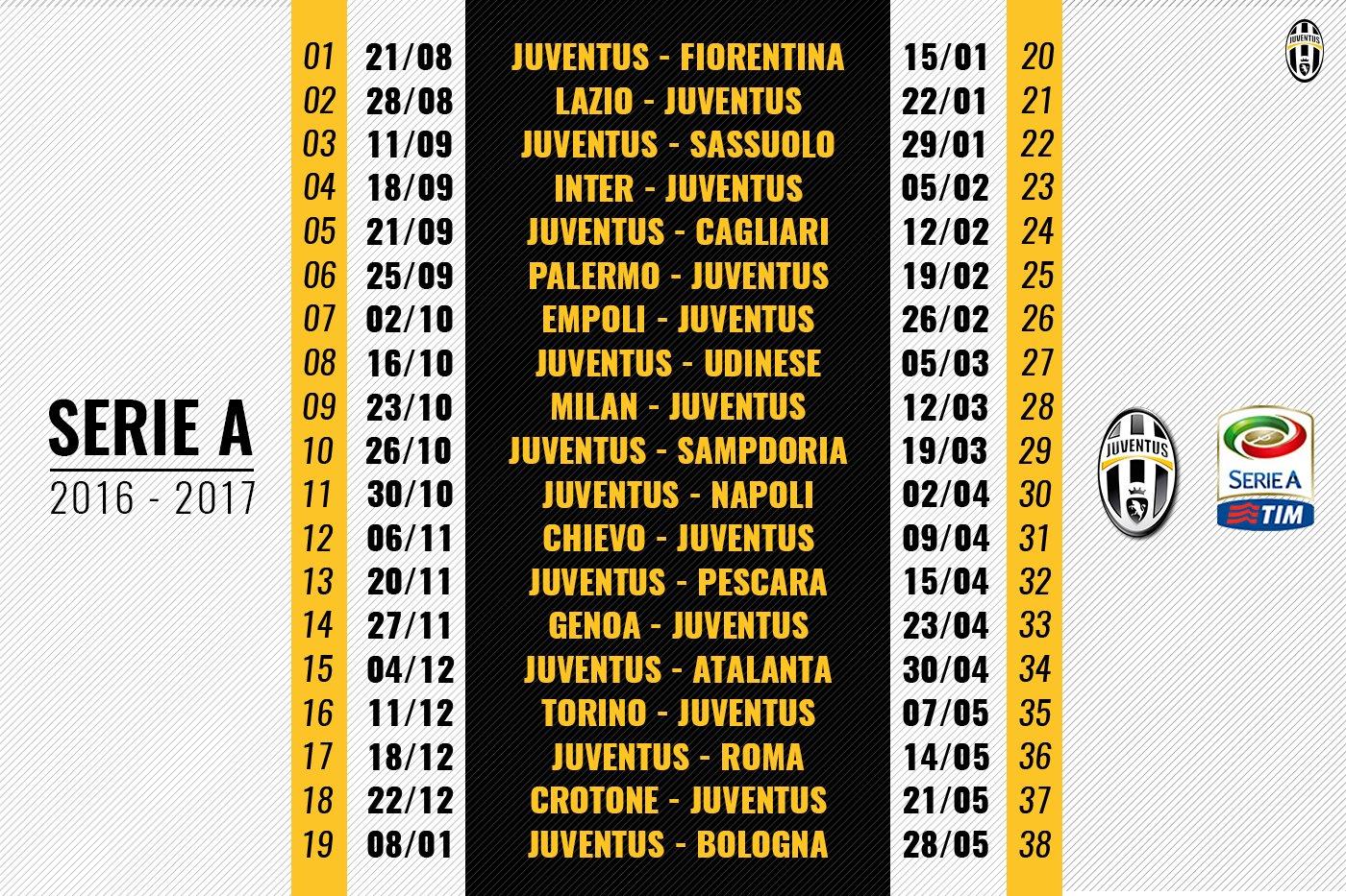 Meno di un mese al via della @SerieA_TIM 😃💪  Un'altra occhiata al calendario non guasta 👀.. #FinoAllaFine #ForzaJuve https://t.co/1evvyPeOL2