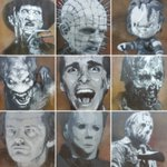 Check out these awesome #horror pieces #stencil #Upfest2016 #Chucky #Hellraiser #TheShining #FreddyKrueger #Jason https://t.co/lwMSqsiolK