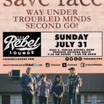 Alright guys, weve got Rebel Lounge in one week. Will we see you there? Tickets are $5 😲 https://t.co/A4DeUhiGrh https://t.co/kwLDyTyzhQ